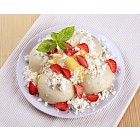Fruit dumplings with cottage cheese