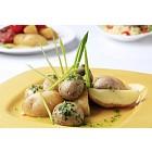 Vegetarian potato and mushroom dish
