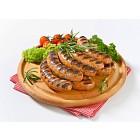 Grilled bratwursts