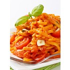 Spaetzle in garlic tomato sauce