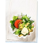 Green salad with cheese
