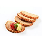 Bread with butter and salami