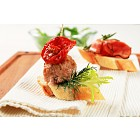 Meatball and prosciutto canapes
