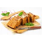 Sliced gingerbread loaf