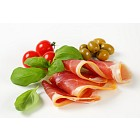 Thin slices of prosciutto crudo