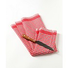 Knife on a tea towel