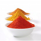 Curry powder, paprika and ground cinnamon
