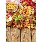 Assortment of colored pasta