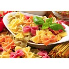 Colored bow tie pasta