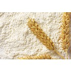 White flour with wheat ears