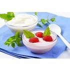Light raspberry and white yogurt