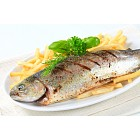 Grilled trout with French fries