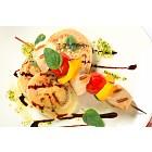 Chicken shish kebab with aubergine