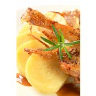 Roast duck with potato dumplings and white cabbage