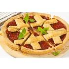 strawberry jam tart with lattice