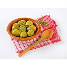bowl of green olives with rosemary