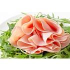Rocket salad and sliced ham