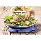 Healthy salad and crispy bread
