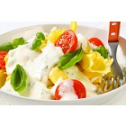 Stuffed pasta with cheese sauce