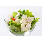 Diced feta with fresh vegetables