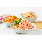 Plain and seasoned shrimps