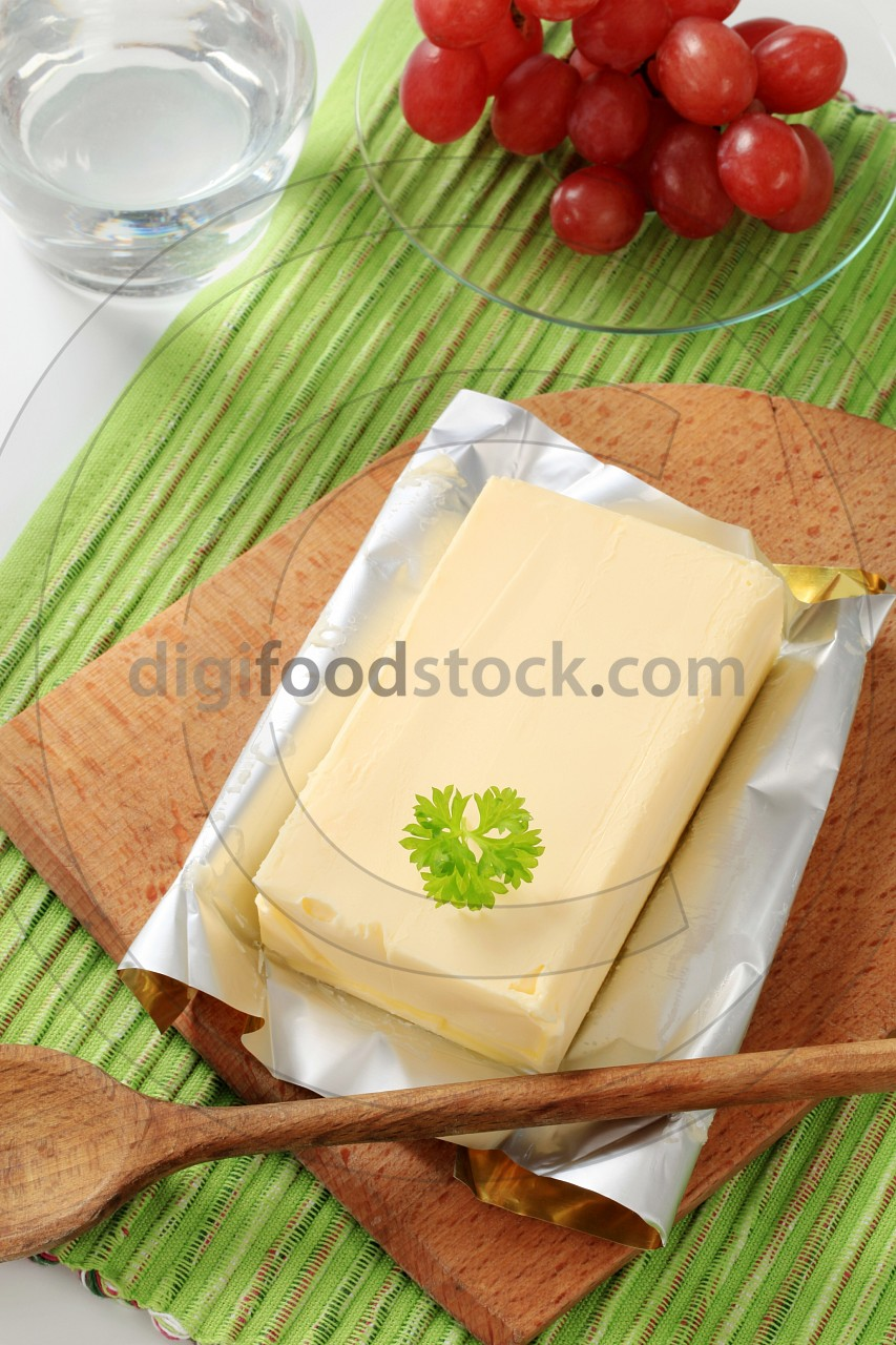 Block of fresh butter