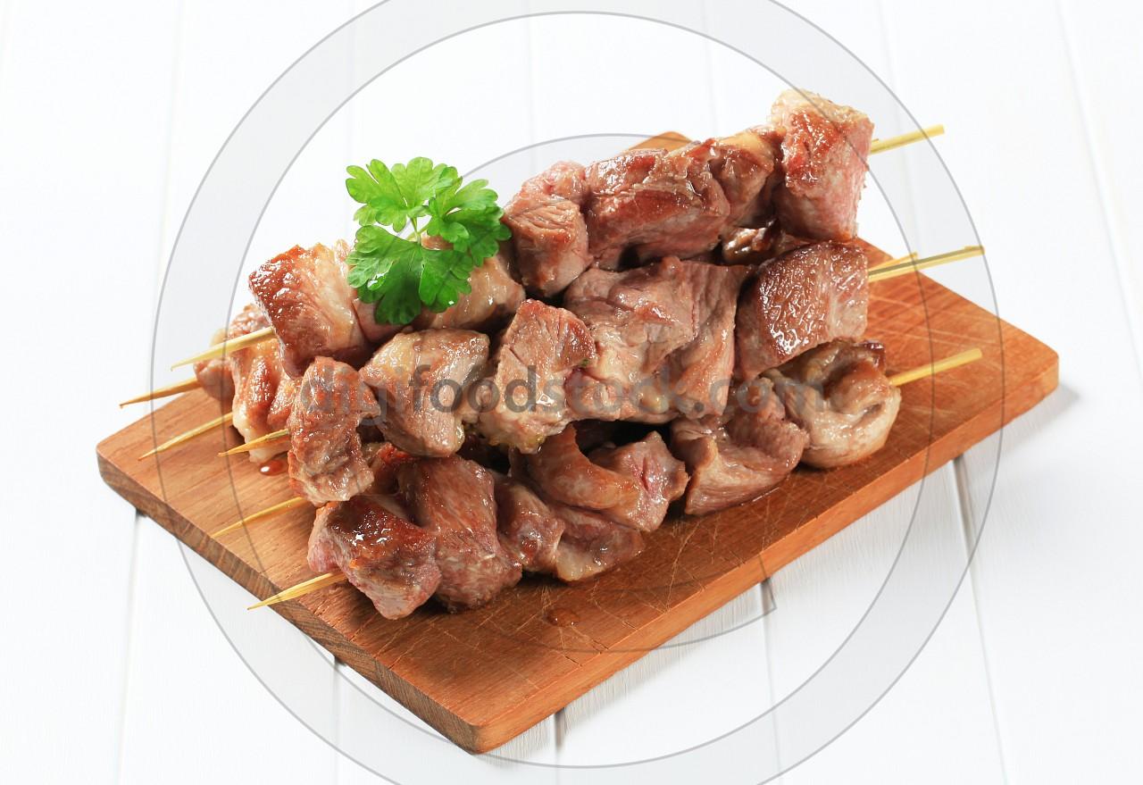 Pork skewers