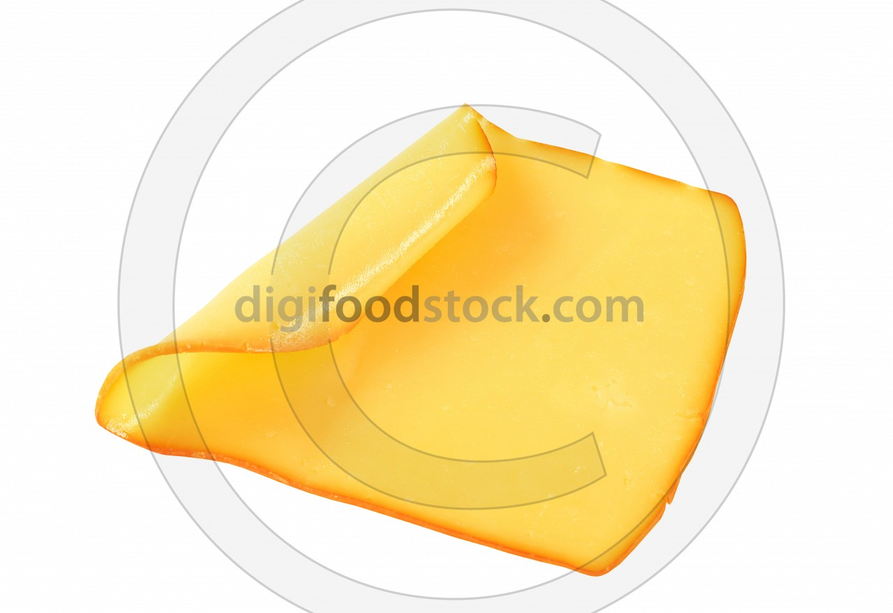 Slice of smoked cheese