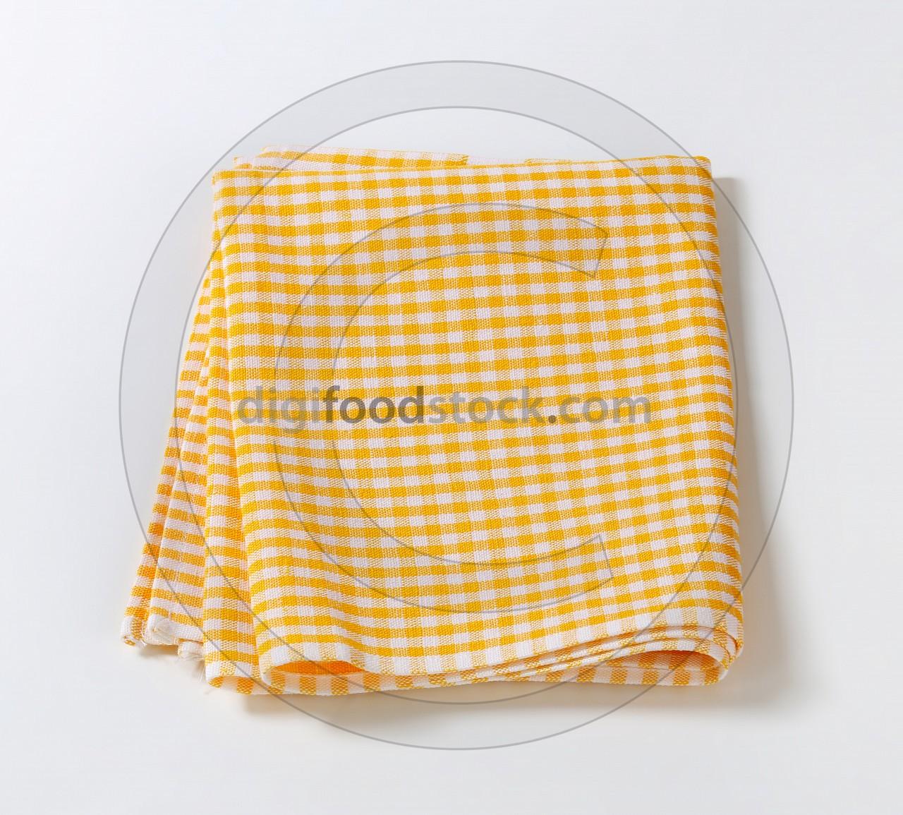 Checked tea towel
