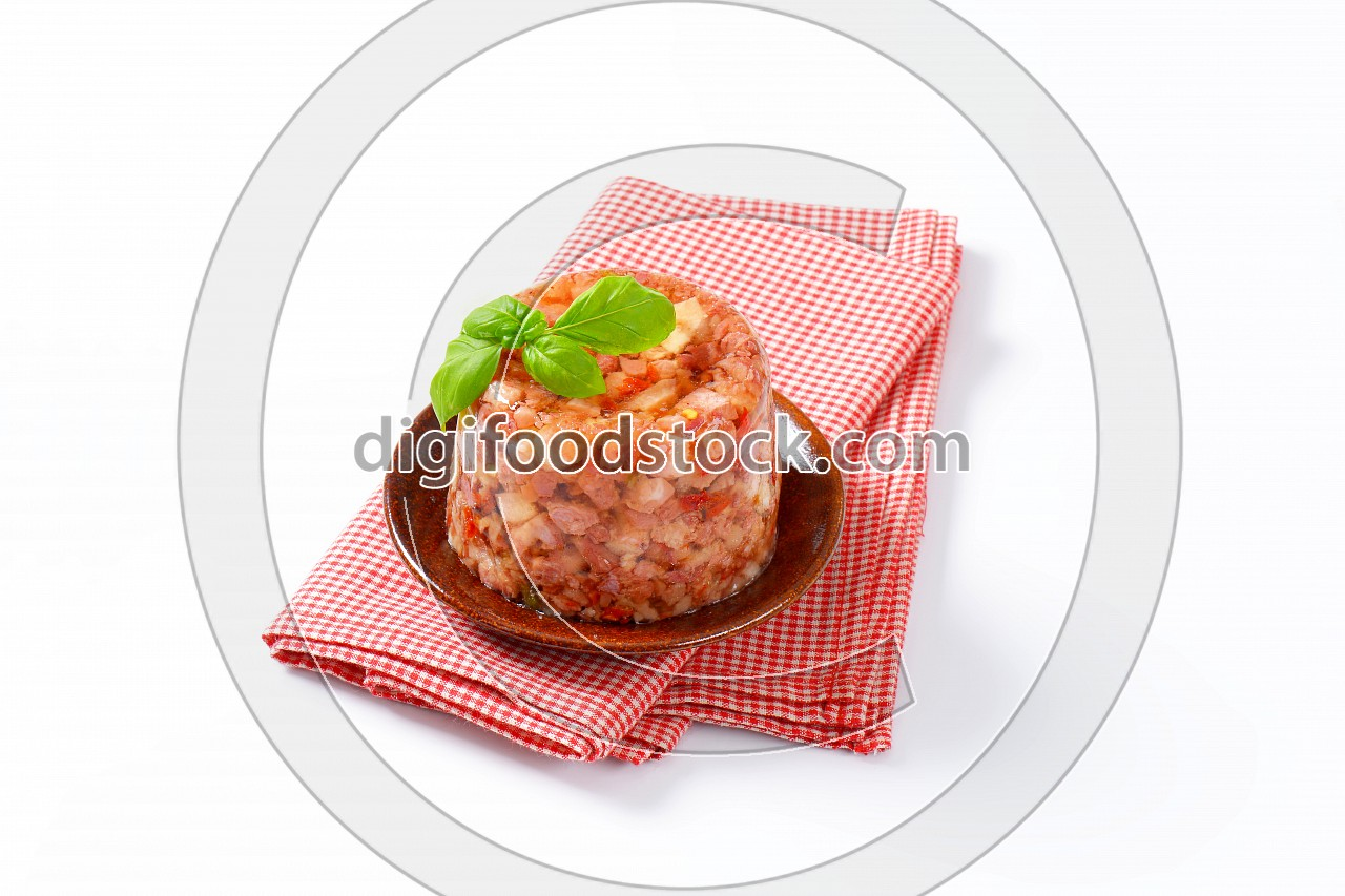 Pork meat in aspic