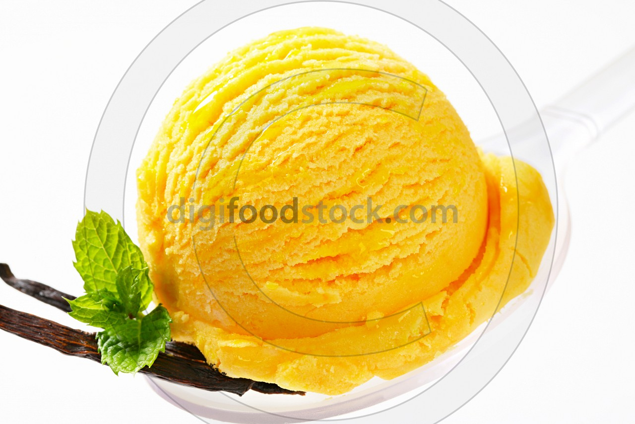 Yellow ice cream