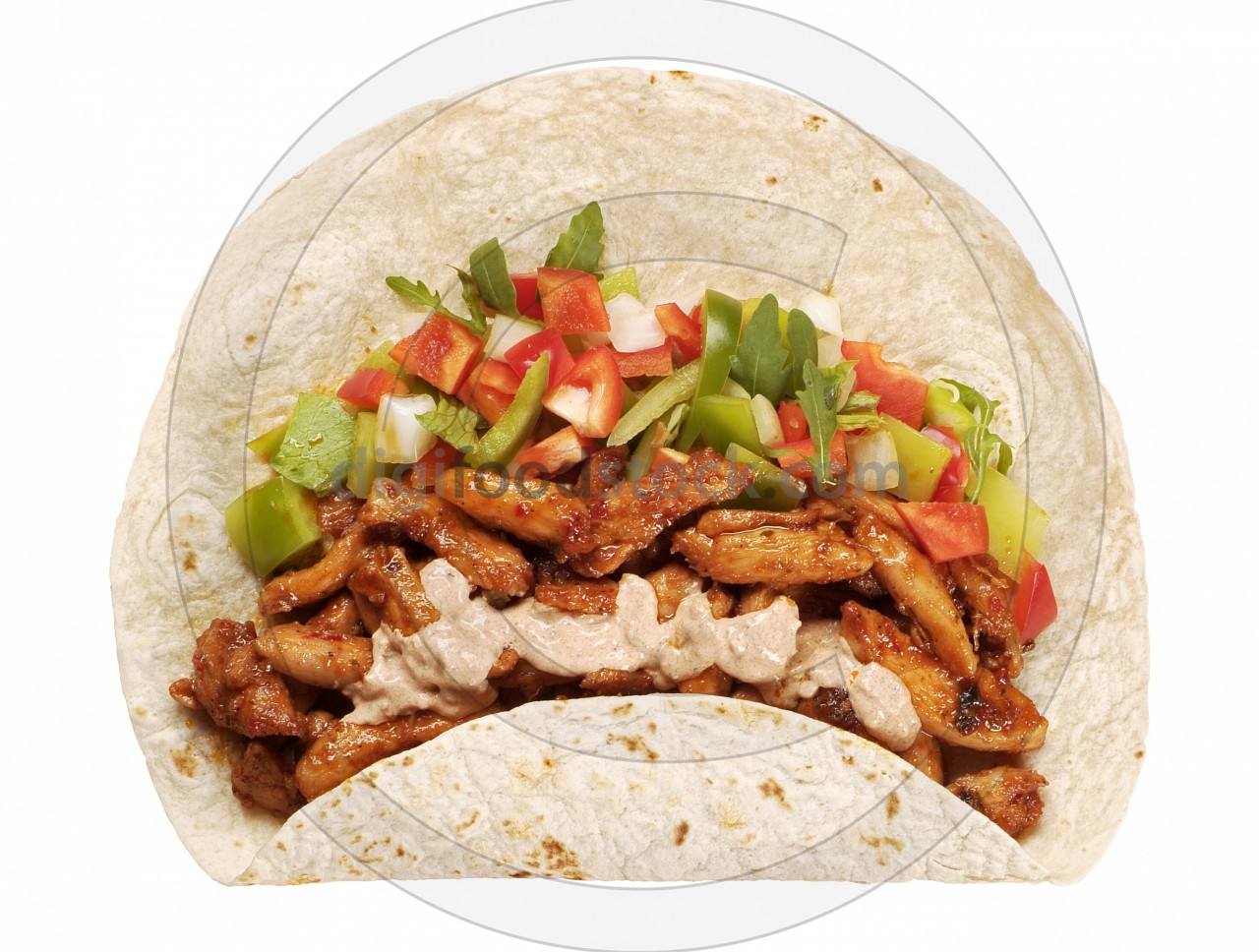 Tortilla with Vegetables and  Meat